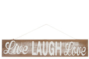 Targa legno Live Laugh Love
