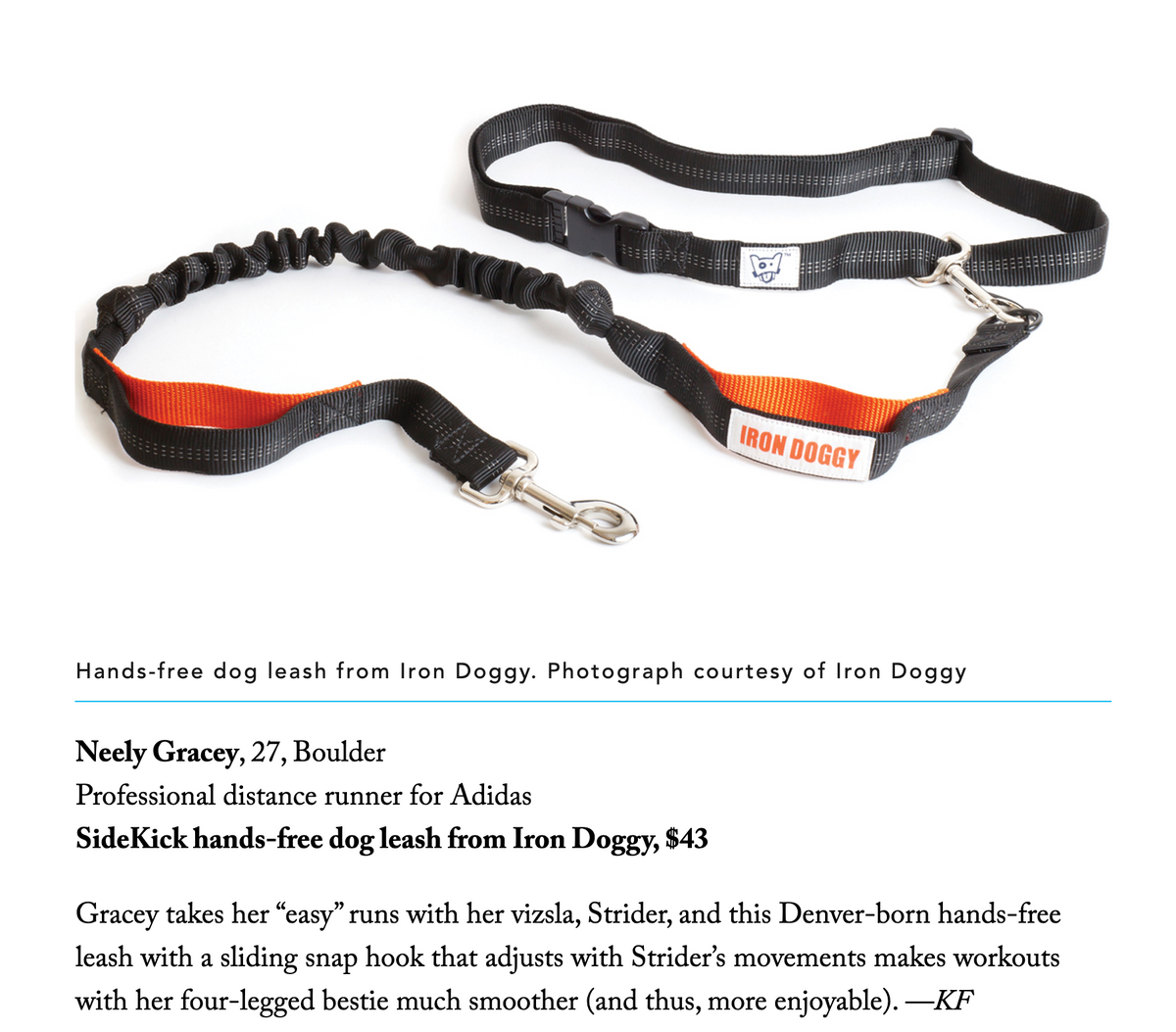 "Iron Doggy™ is in 5280 Magazine's ""Ultimate Guide to Running"""