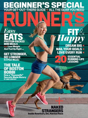 That's Iron Doggy™ on the Cover of Runner's World Magazine