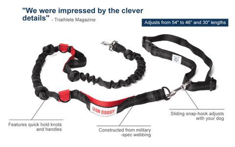 iron Doggy Runner's Choice Hands-Free Leash