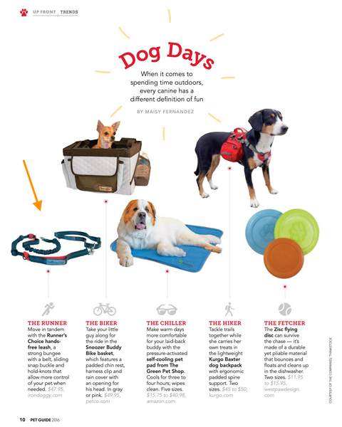 USA Today 2016 Pet Guide - Iron Doggy hands free dog leash
