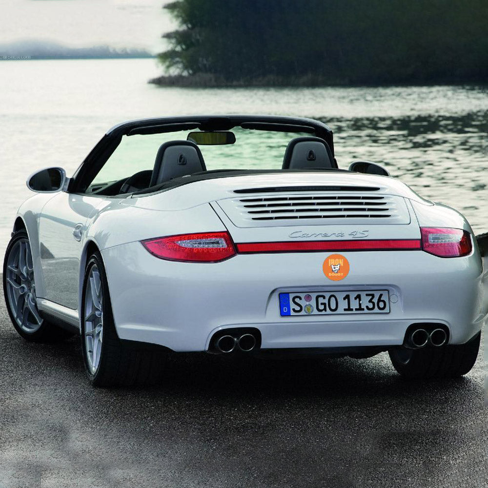 Iron Doggy sticker on Porsche 911 cabriolet