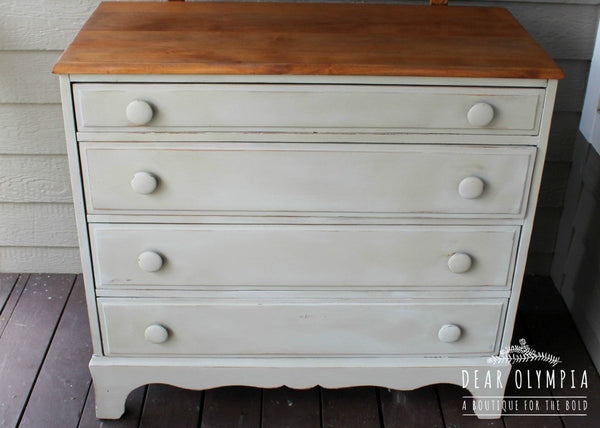 Antique Chest of Drawers in Fusion Mineral Paint - Bedford