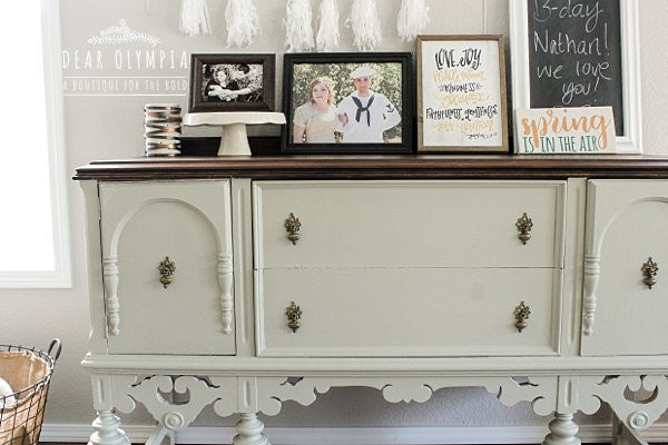 Dining Room Makeover With Fusion Mineral Paint Lichen And