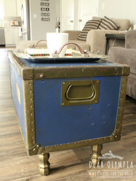 The Legs Are Painted In Bronze Metallic Paint Which Matches The Original  Metal On The Trunk!