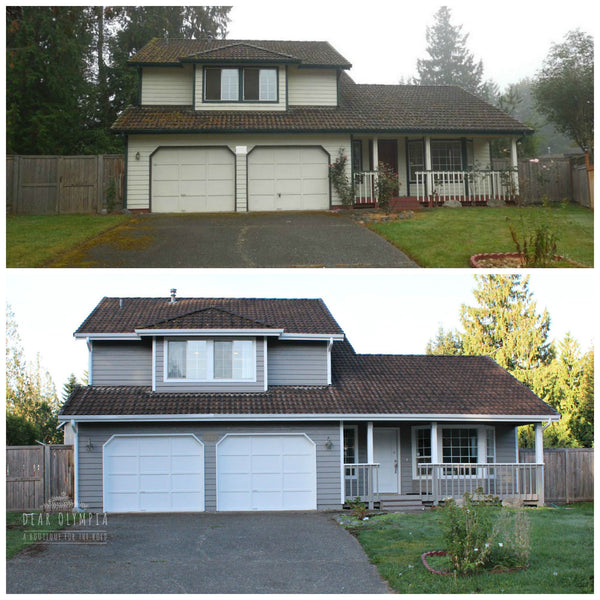 House renovation foreclosure lacey olympia tumwater washington dear olympia for Sherwin williams dovetail gray exterior