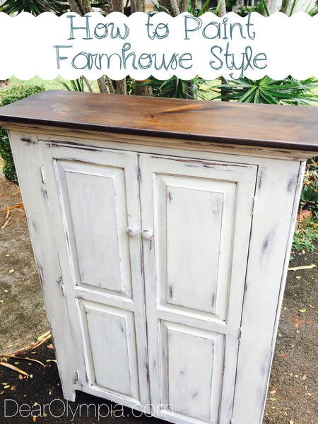 How To Paint Farmhouse Style Furniture