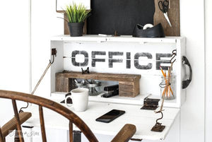 Office Stencil - Fusion Mineral Paint - Where to Buy Online - Dear Olympia - Flate Rate US Shipping