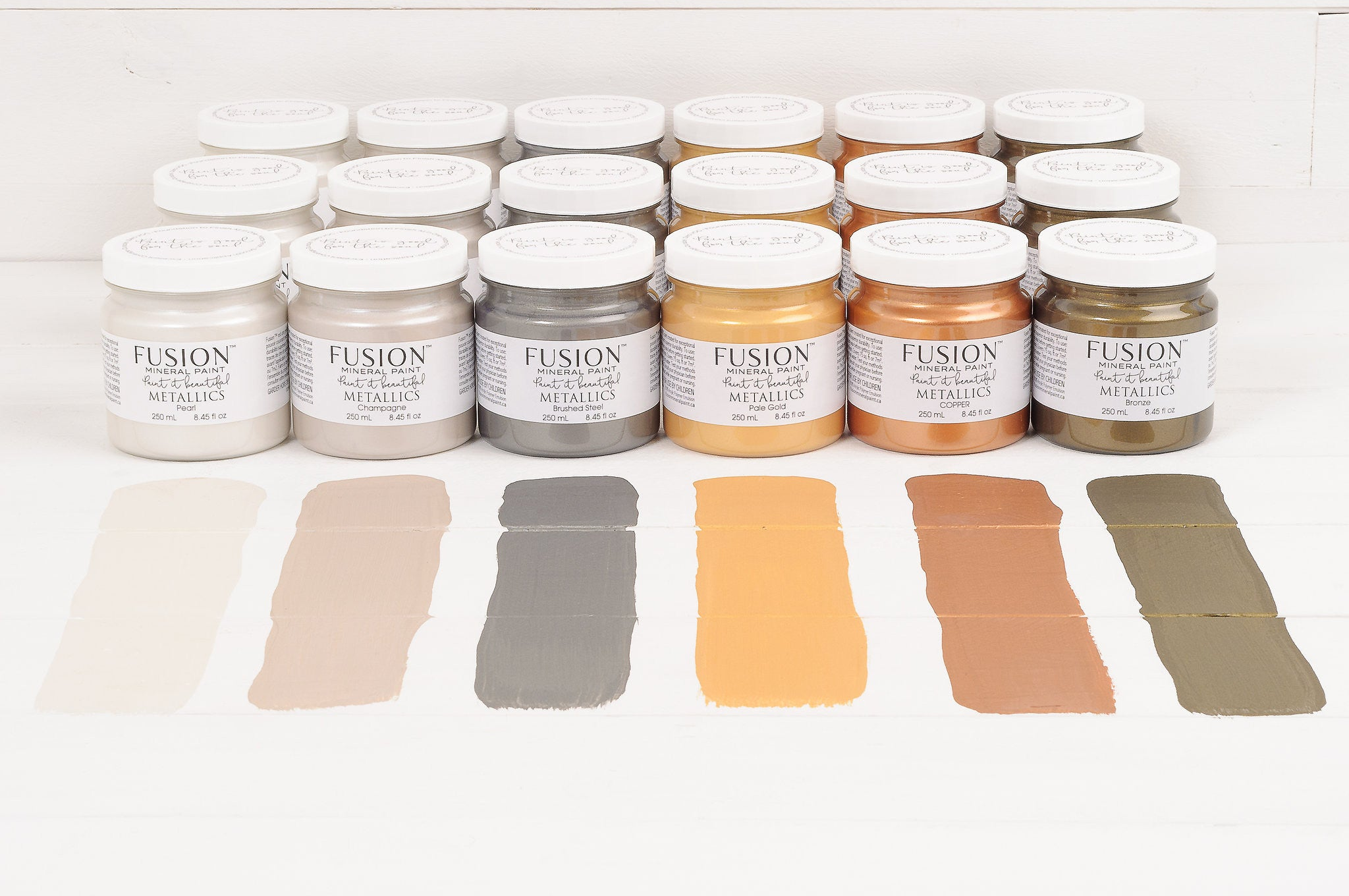 Champagne Metallic Paint - Fusion Mineral Paint - Where to Buy Online - Dear Olympia - Flate Rate US Shipping