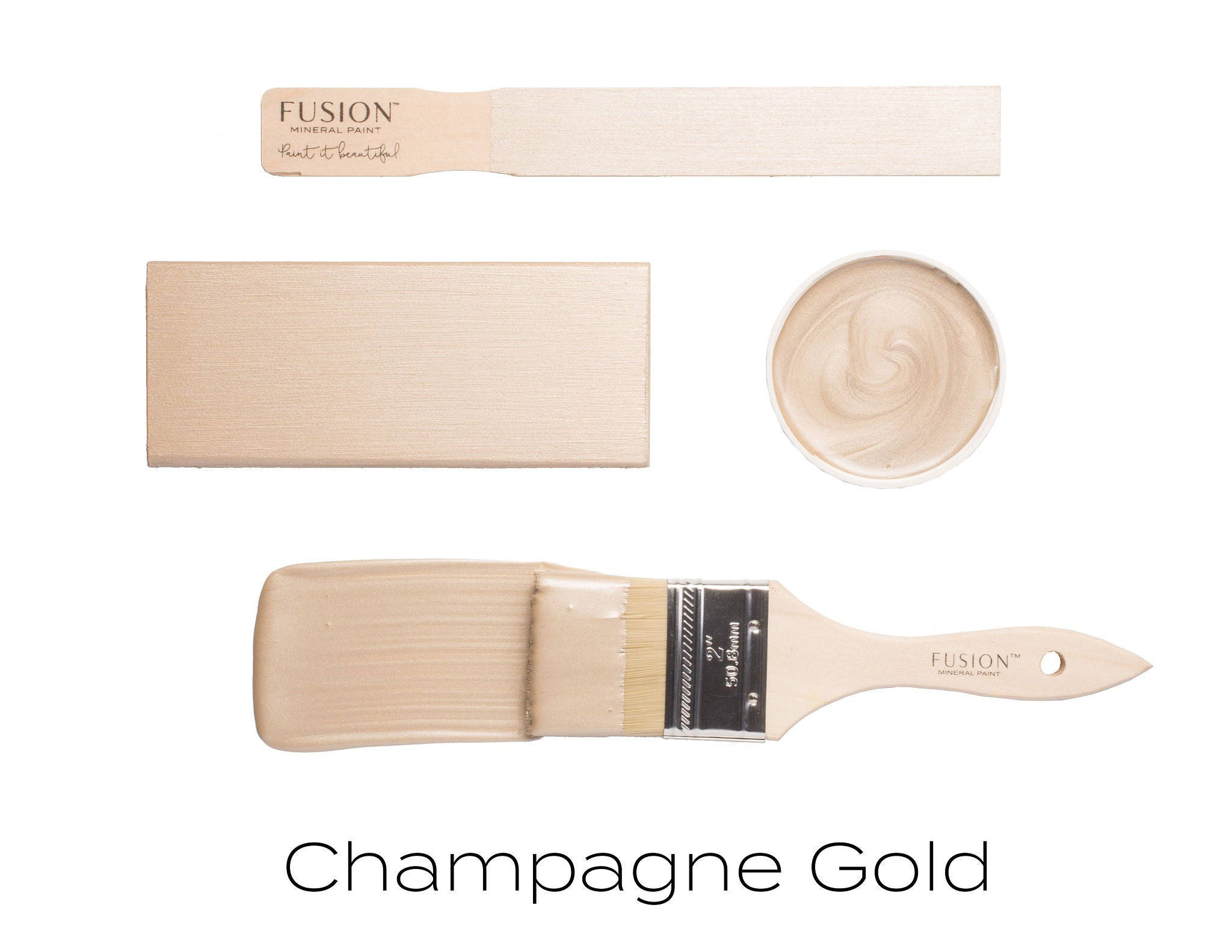 Champagne Gold Metallic Paint *New* - Fusion Mineral Paint - Where to Buy Online - Dear Olympia - Flate Rate US Shipping