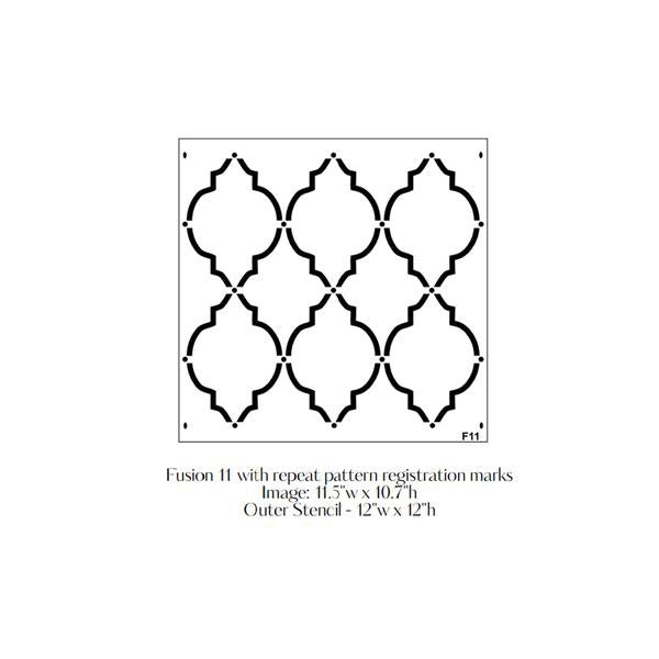 Moroccan Trellis Fusion Stencil - Fusion Mineral Paint - Where to Buy Online - Dear Olympia - Flate Rate US Shipping