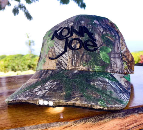 Camouflage Hat with Headlight