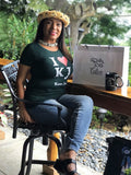 Womens Green Tapered I Love KJ T Shirt