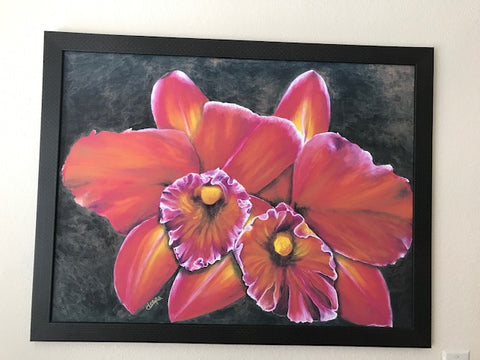Art Special - Twin Orchids on Canvas
