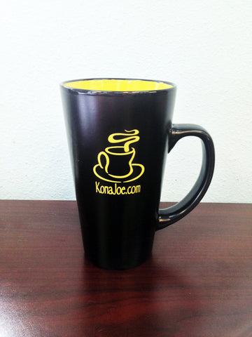 Black and Yellow Kona Joe Mug