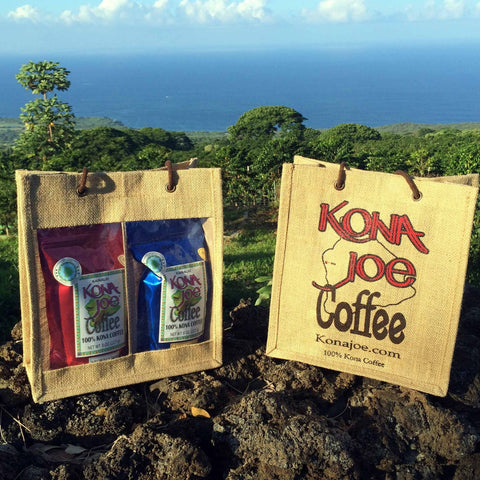 Kona Joe Window Bag with Gourmet Blend Coffee