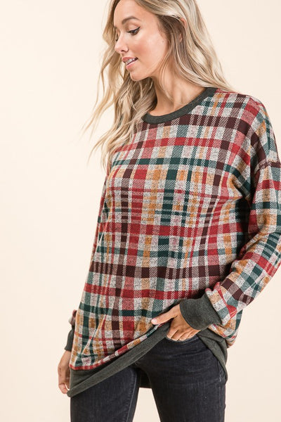 Long Sleeve Plaid Tunic