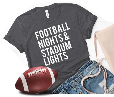 Football Nights T-Shirt-Black