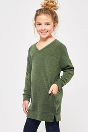 Solid Sweater Tunic Pullover