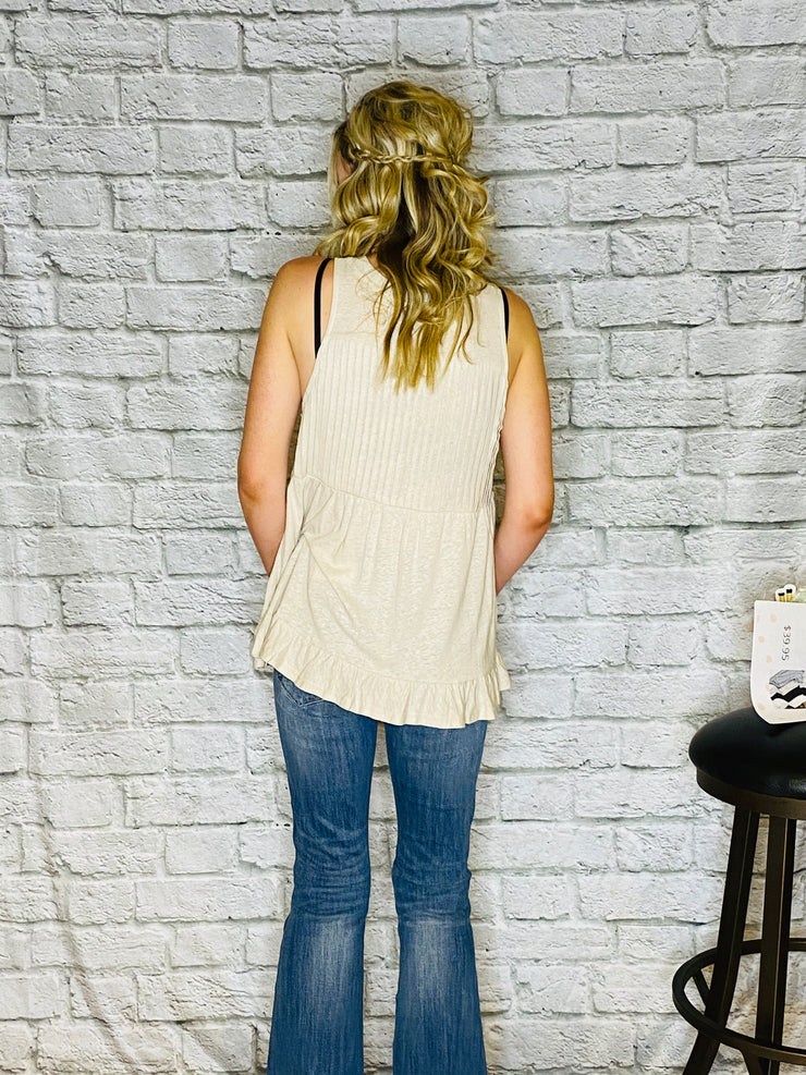 Almond Biscotti Sleeveless Top