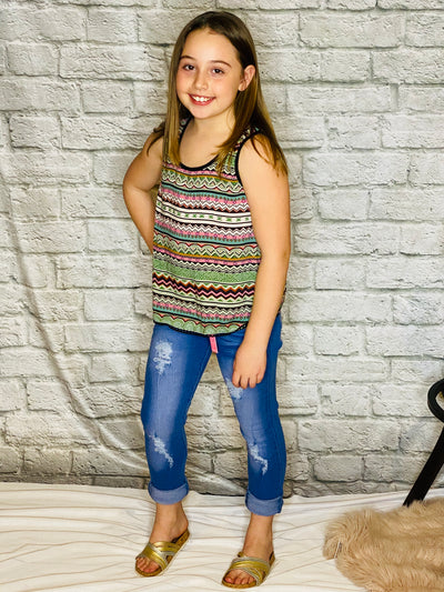 GIRLS MULTI COLOR TANK