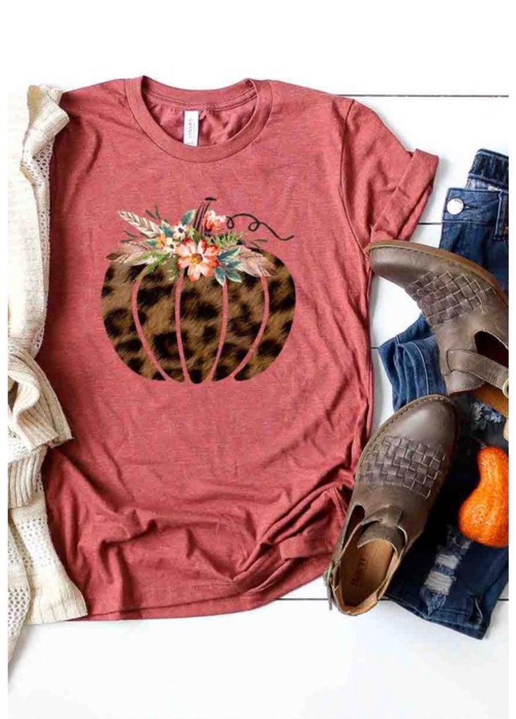 Leopard Fall Pumpkin Top