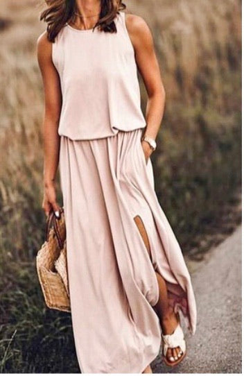Taupe Long Dress