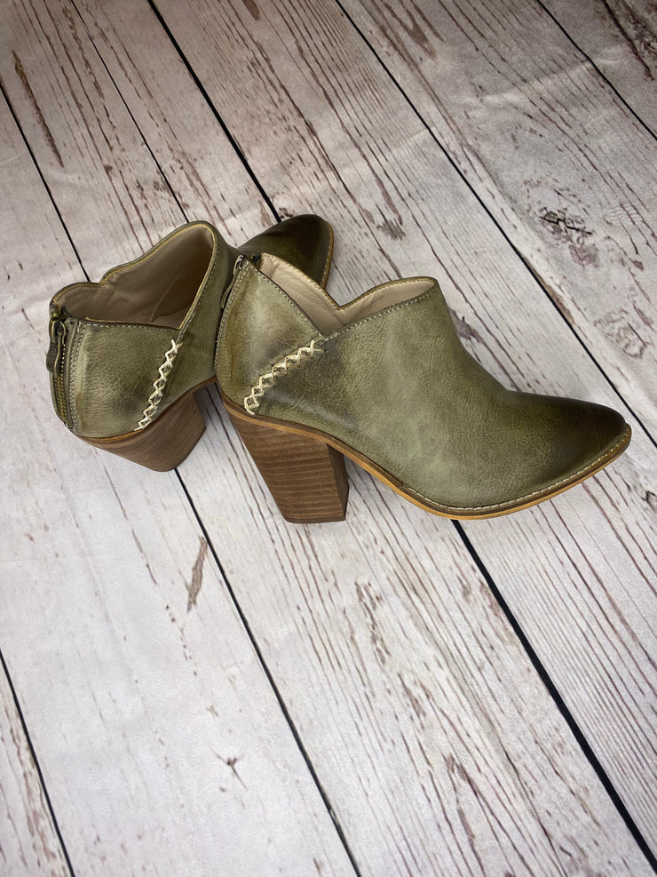 Women Taupe Ankle Booties