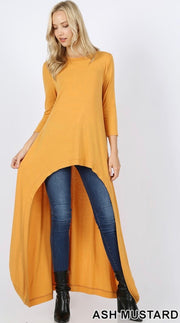 High-Low Longline Total Body Top - Multiple Colors!