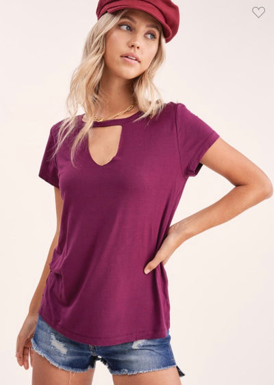 Cutout Short Sleeve Top