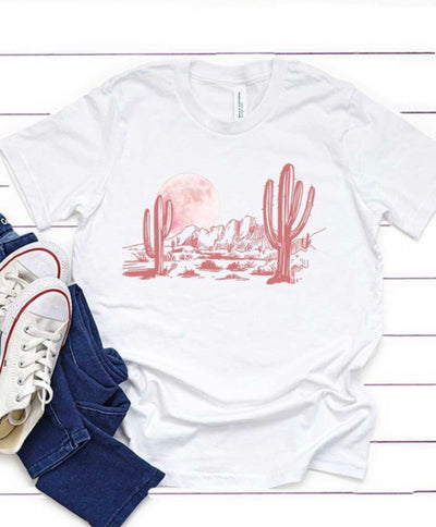 Girls Desert Moon Graphic Tee