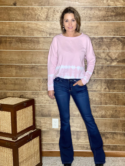 Long Sleeve Dusty Pink Top