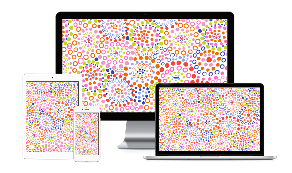 Packed Party Multi Dots Screensaver