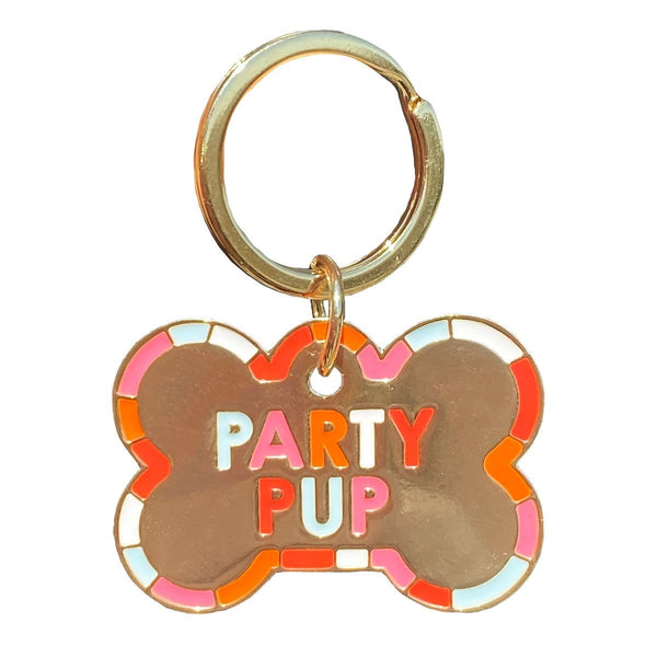Party Pup Dog Tag