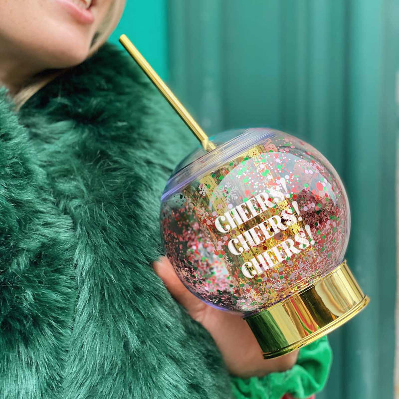 CHEERS SNOWGLOBE SIPPER