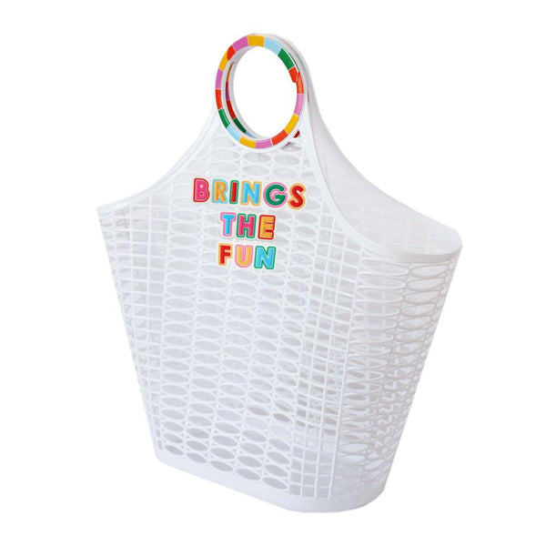 BRINGS THE FUN JELLY TOTE BAG
