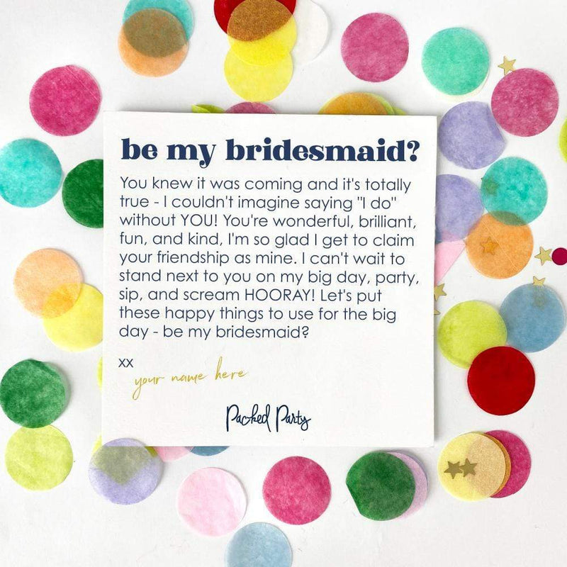 Be My Bridesmaid Package