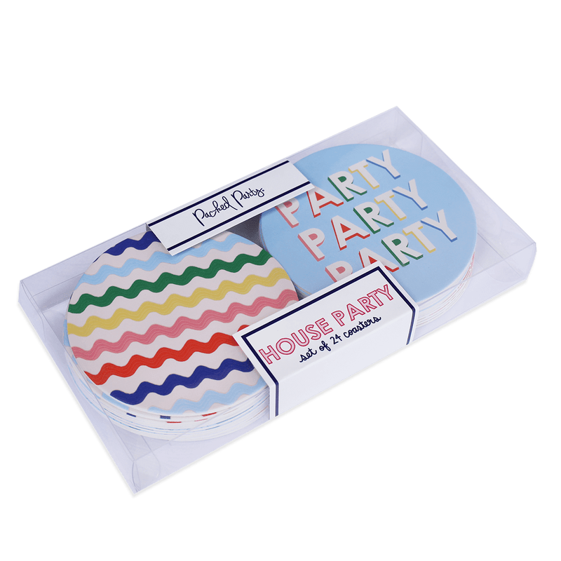 HOUSE PARTY COASTER SET