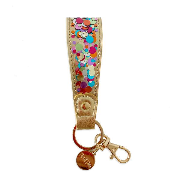 HOOKED ON CONFETTI STRAP KEYCHAIN