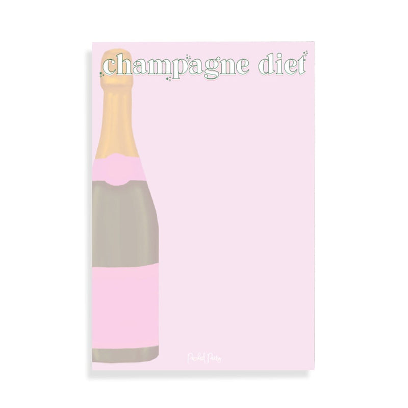 Champagne Diet Notepad