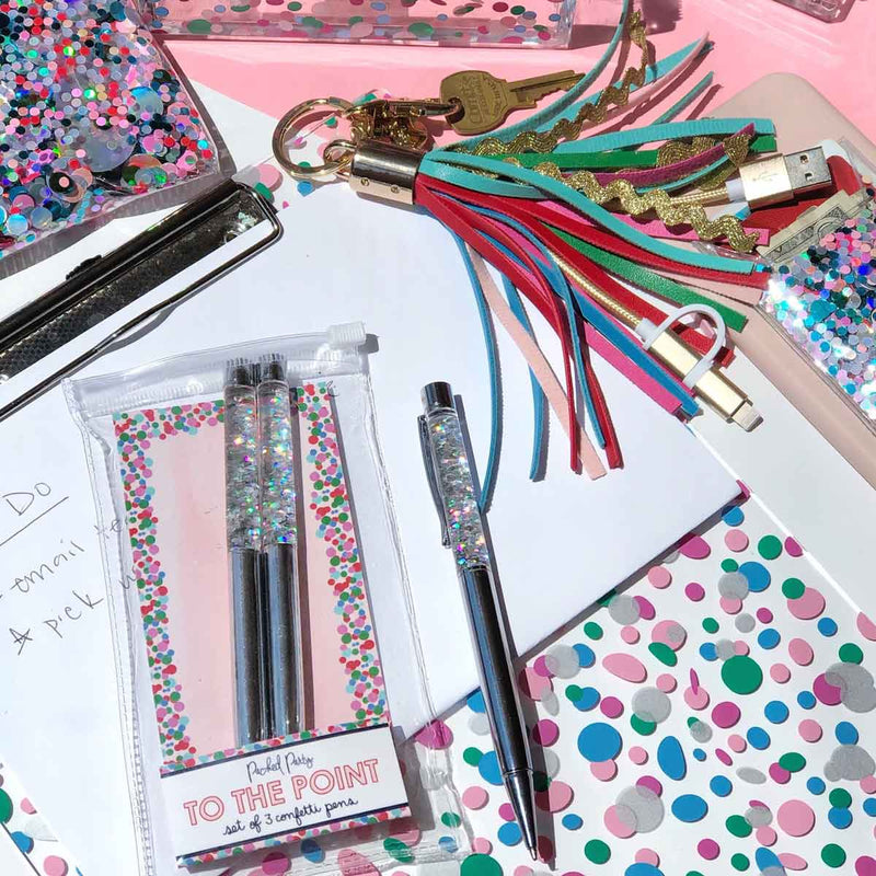 SUGAR RUSH CONFETTI PEN SET