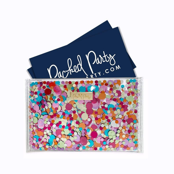Packed Party ALL BIZNESS CONFETTI CARD HOLDER Wallets/Card Holders