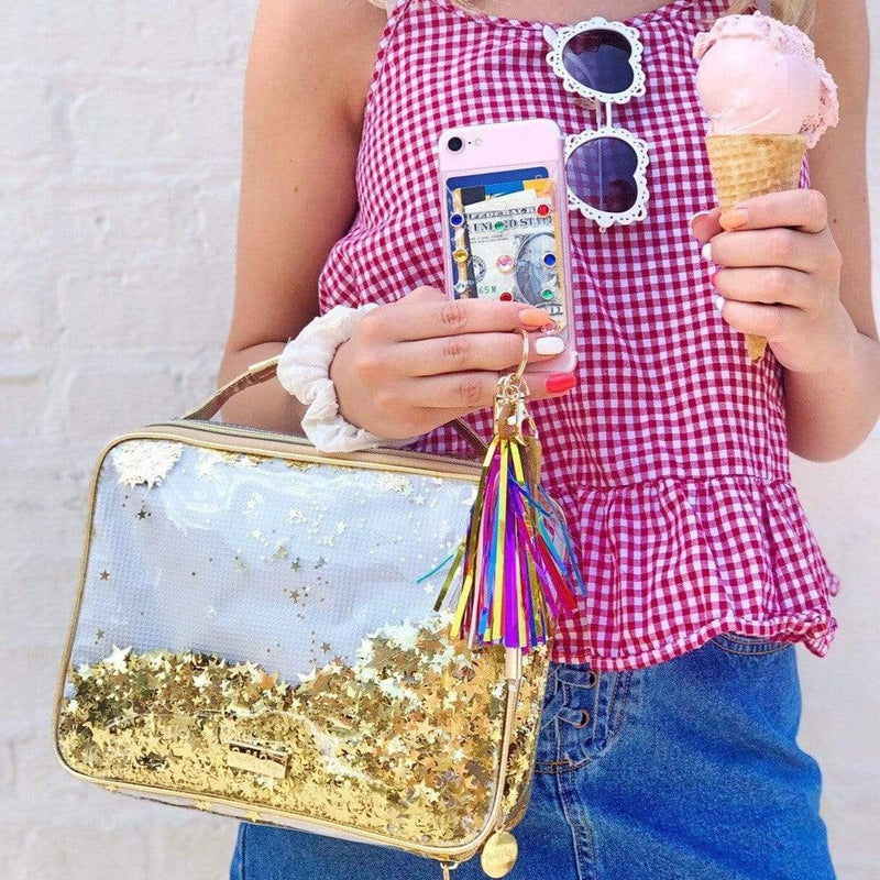 SHINE BRIGHT DOTTY PHONE WALLET