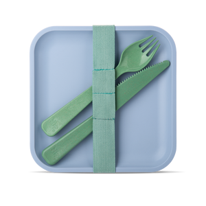 Hip Sandwich and a Salad Container Set with Cutlery