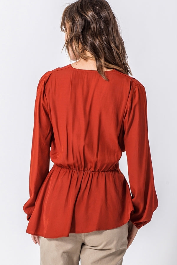 Rust Asymmetrical Hem with Belt