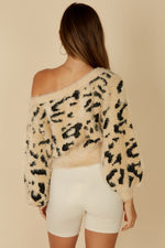 Leopard Off the Shoulder Crop
