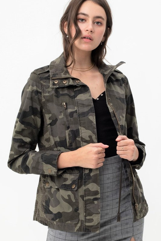 Camo Jacket Adjustable Waist