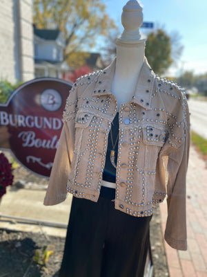 Denim Studded Jacket