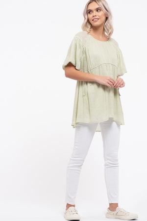 Sage Empire Waist Top