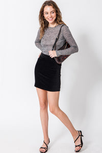 Black Fitted Mini Skirt
